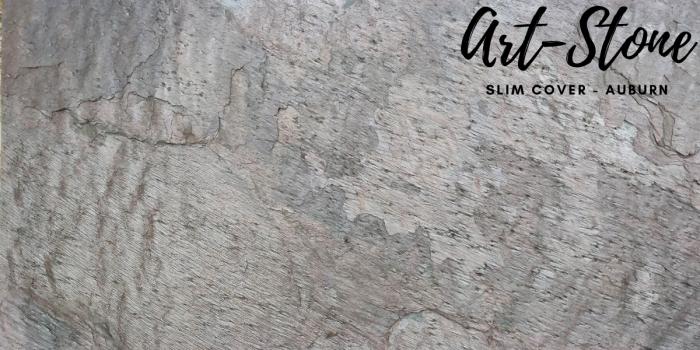 Đá ốp tường mỏng cao cấp Art Stone - Khổ 610mmx1220mm - Màu sắc: Slim Cover_ Auburn - Đá mỏng khoảng 2mm - Vị trí sử dụng: đá ốp tường, đá ốp trần, ốp bếp, phòng ngủ, phòng khách, vách,.... - Đá ốp tường được bảo hành lên đến 5 năm chính hãng.6