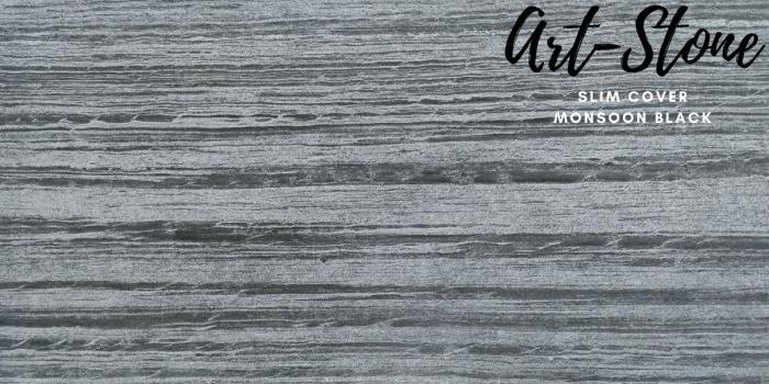 Đá ốp tường mỏng cao cấp Art Stone - Khổ 610mmx1220mm - Màu sắc: Slim Cover_ Monsoon Black - Đá mỏng khoảng 2mm - Vị trí sử dụng: đá ốp tường, đá ốp trần, ốp bếp, phòng ngủ, phòng khách, vách,.... - Đá ốp tường được bảo hành lên đến 5 năm chính hãng.5