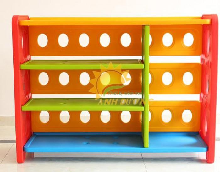 Kệ nhựa trẻ em cho trường lớp mầm non, gia đình giá rẻ, chất lượng cao2