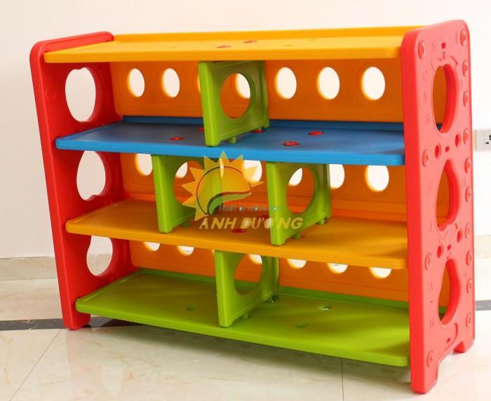 Kệ nhựa trẻ em cho trường lớp mầm non, gia đình giá rẻ, chất lượng cao4