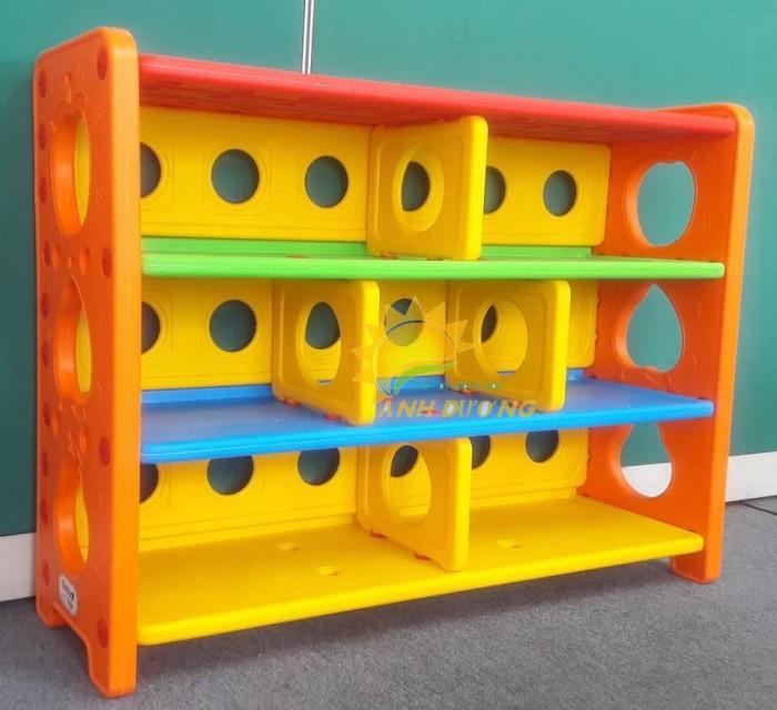 Kệ nhựa trẻ em cho trường lớp mầm non, gia đình giá rẻ, chất lượng cao6