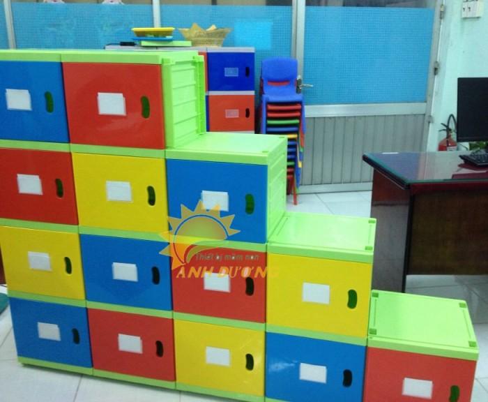 Kệ nhựa trẻ em cho trường lớp mầm non, gia đình giá rẻ, chất lượng cao11