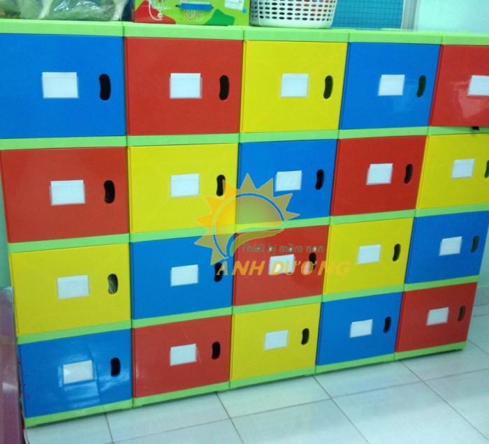 Kệ nhựa trẻ em cho trường lớp mầm non, gia đình giá rẻ, chất lượng cao9