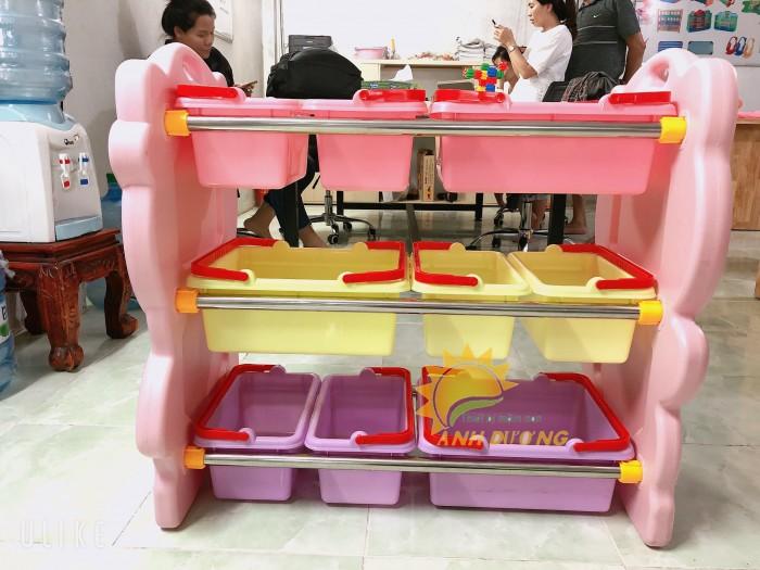 Kệ nhựa trẻ em cho trường lớp mầm non, gia đình giá rẻ, chất lượng cao12
