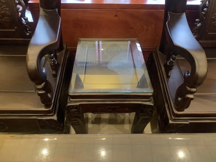 Bộ bàn ghế cột 12 gỗ chiu iu chạm đào phong thủy0