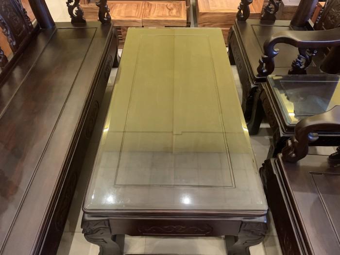 Bộ bàn ghế cột 12 gỗ chiu iu chạm đào phong thủy5