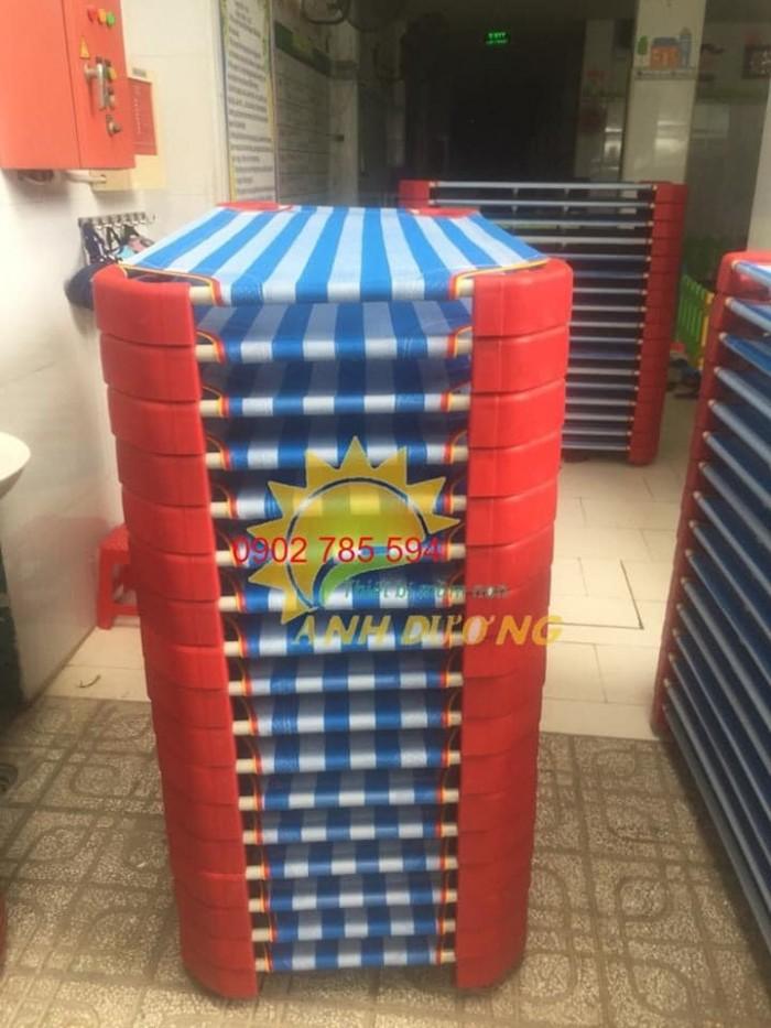 Giường lưới cho bé thoáng mát tiết kiệm diện tích4