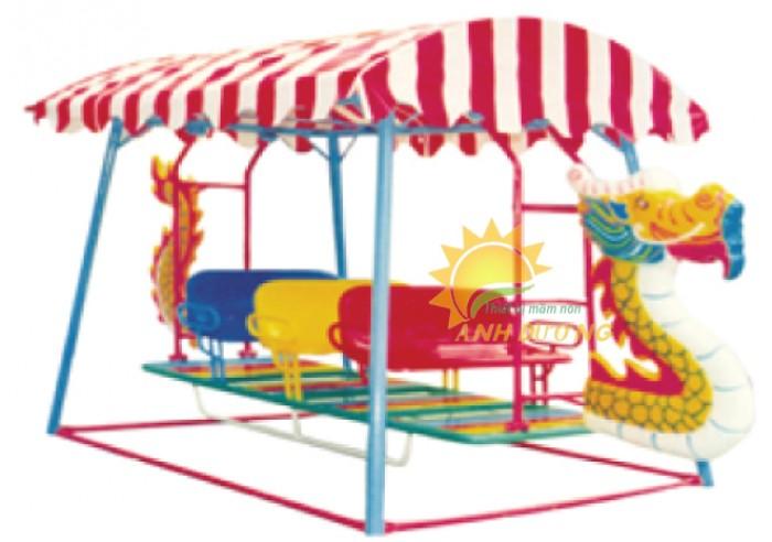 Xích đu thuyền rồng cho trường mầm non, công viên, sân chơi trẻ em1