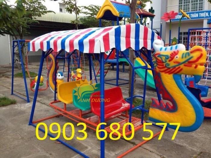 Xích đu thuyền rồng cho trường mầm non, công viên, sân chơi trẻ em2