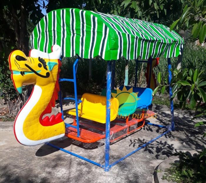 Xích đu thuyền rồng cho trường mầm non, công viên, sân chơi trẻ em5