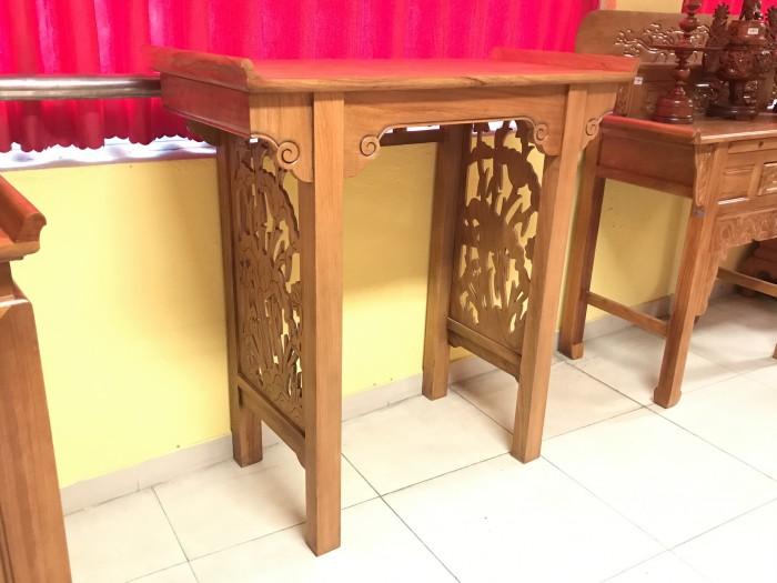 Bộ bàn thờ gia tiên gồm bàn thờ và tủ nhang gỗ gõ đỏ 100% giá rẻ3