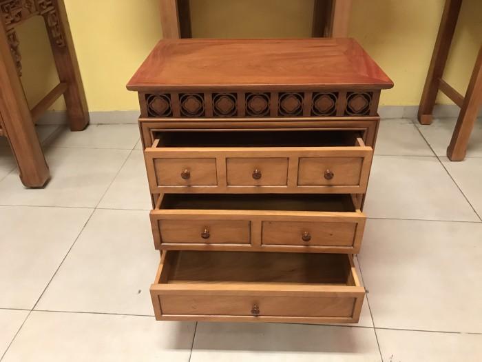 Bộ bàn thờ gia tiên gồm bàn thờ và tủ nhang gỗ gõ đỏ 100% giá rẻ2