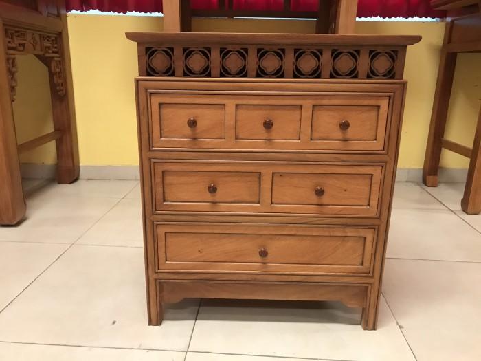 Bộ bàn thờ gia tiên gồm bàn thờ và tủ nhang gỗ gõ đỏ 100% giá rẻ4