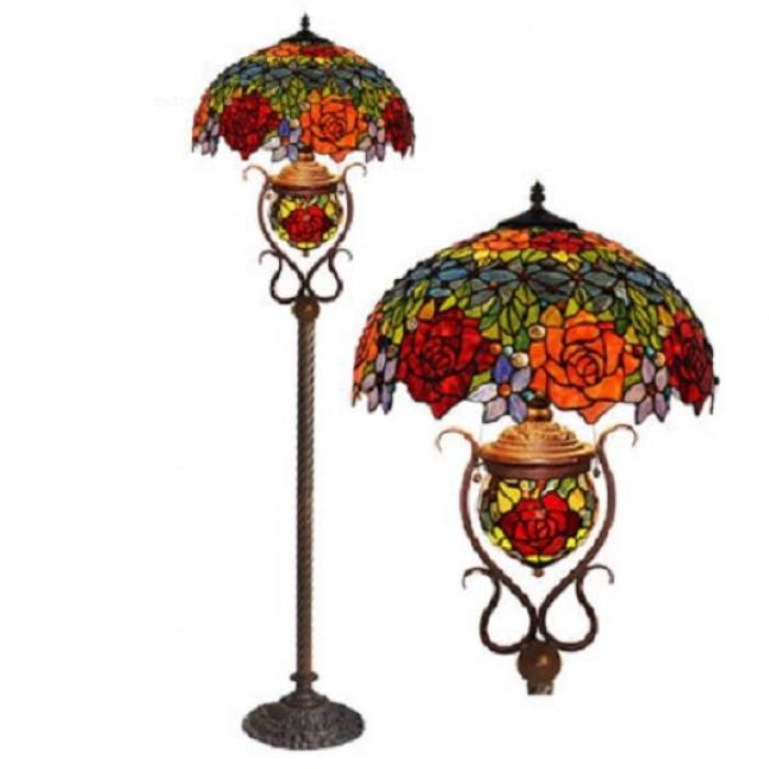 Đèn cây và đèn bàn tiffany Hoa Hồng trang trí nhà cửa0
