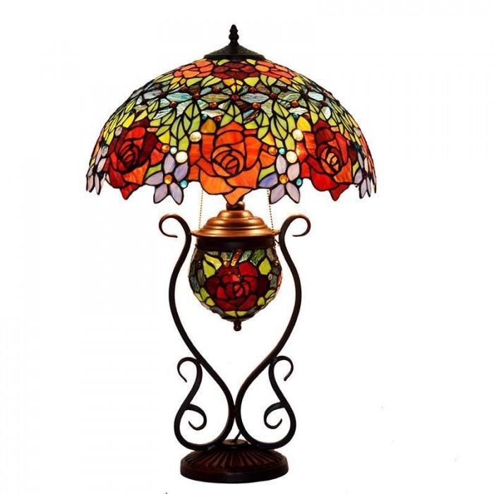 Đèn cây và đèn bàn tiffany Hoa Hồng trang trí nhà cửa1