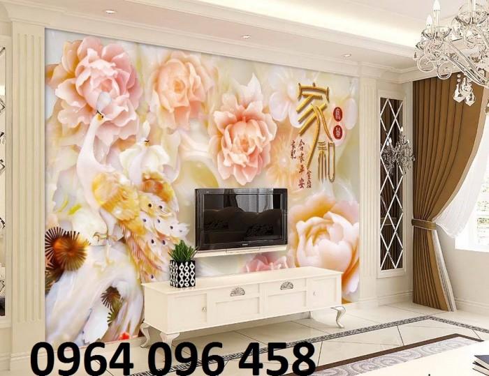 Gạch 3d phòng khách -CB091