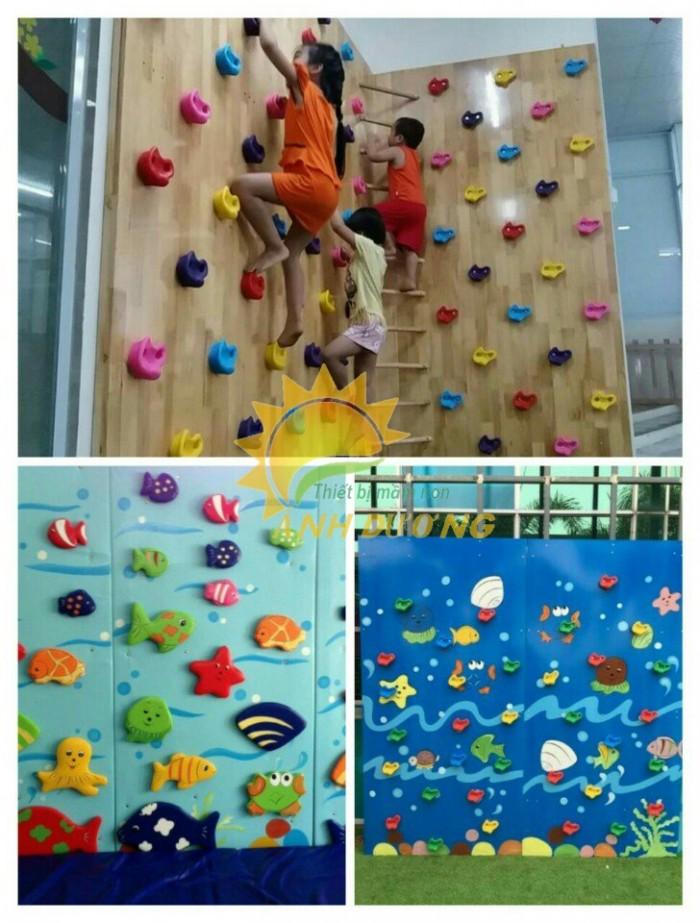 Nhận thi công tường leo núi ngộ nghĩnh đáng yêu cho bé mầm non6