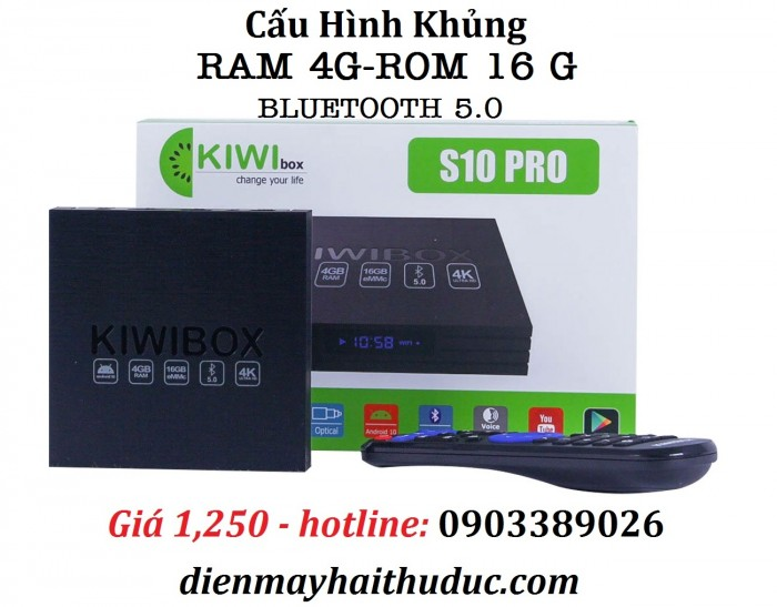 KIWIBOX S10 PRO - Xem phim với tất cả định dạng cao nhất 4K, 3D, Bluray ISO, MKV,…