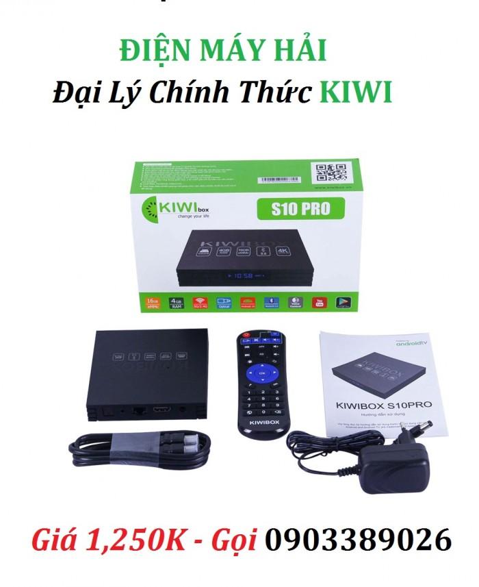 KIWIBOX S10 PRO  BỘ SẢN PHẨM GỒM CÓ: KIWIBOX S10 Pro, Điều khiển, Dây HDMI, Nguồn Adapter 5V/ 2A, Hướng dẫn sử dụng tiếng Việt.