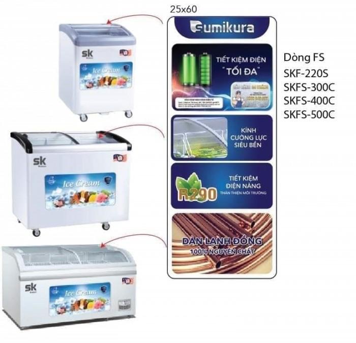 Tủ đông SK Sumikura SKFS-400C(FS) 400 lít chứa kem1