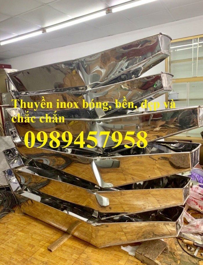 Thuyền inox 2m, 2,3m, 2,5m, 3m, Thuyền inox giá rẻ0