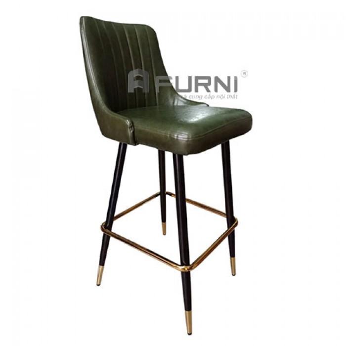 CB LOUIS 1C-P | Ghế bar nhà hàng bọc nệm PVC chân sắt sơn đen nhập khẩu TP.HC0
