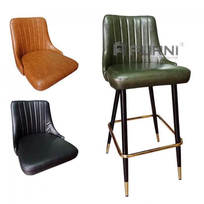 CB LOUIS 1C-P | Ghế bar nhà hàng bọc nệm PVC chân sắt sơn đen nhập khẩu TP.HC2