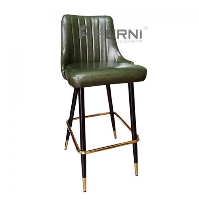 CB LOUIS 1C-P | Ghế bar nhà hàng bọc nệm PVC chân sắt sơn đen nhập khẩu TP.HC1