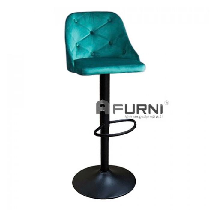 CB2265A-F | Ghế bar bọc nhung chân sắt sơn đen cho Spa nhập khẩu TPHCM1