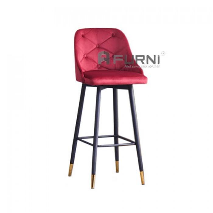CB LOUIS 3C-F | Ghế bar bọc nhung có lưng tựa cho đảo bếp căn hộ chung cư2