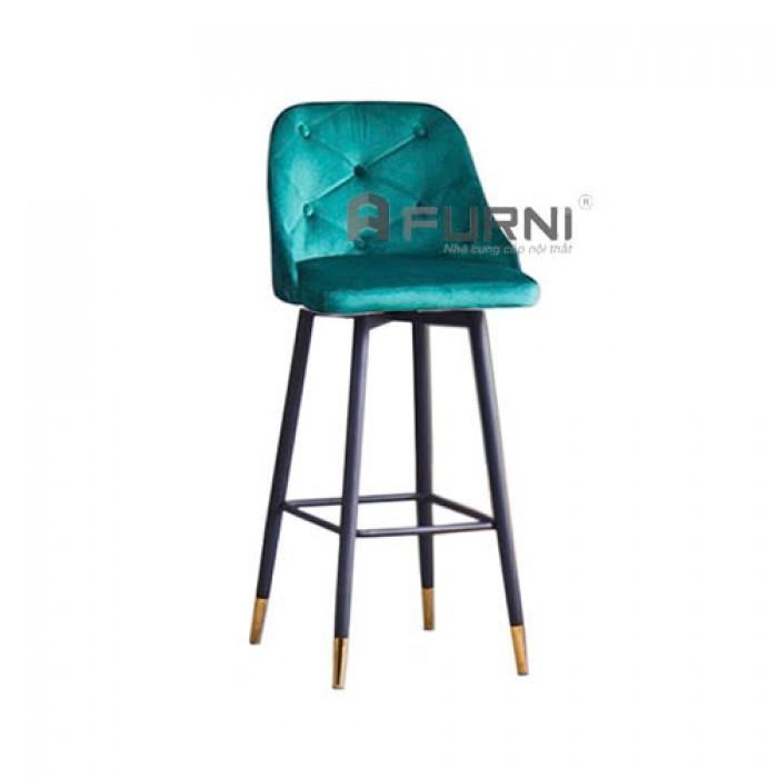 CB LOUIS 3C-F | Ghế bar bọc nhung có lưng tựa cho đảo bếp căn hộ chung cư1
