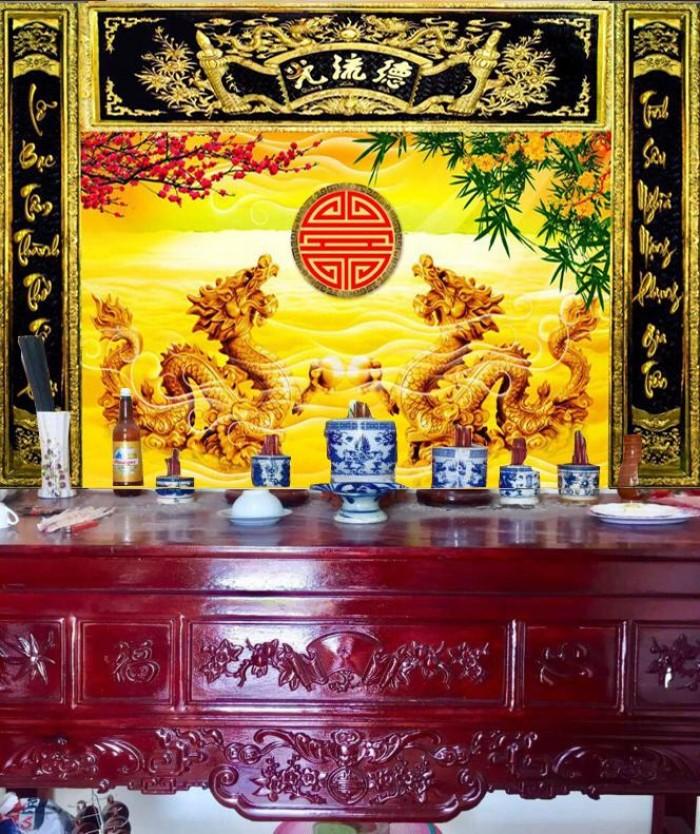 Tranh gạch ốp tường trang trí bàn thờ4