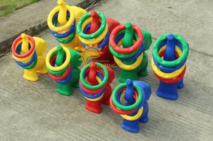 Đồ chơi vận động thú ném vòng con voi cho bé mầm non