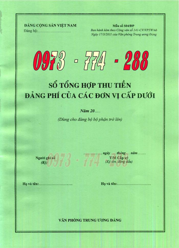 Bán sổ ghi biên bản họp chi hội nông dân29