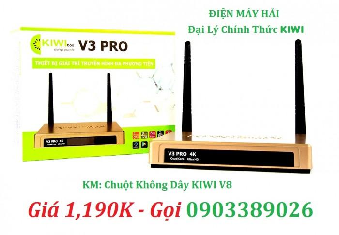 KIWIBOX V3 PRO Thiết kế với 2 Anten thu sóng mạnh mẽ xem phim tín hiệu rất ổn định