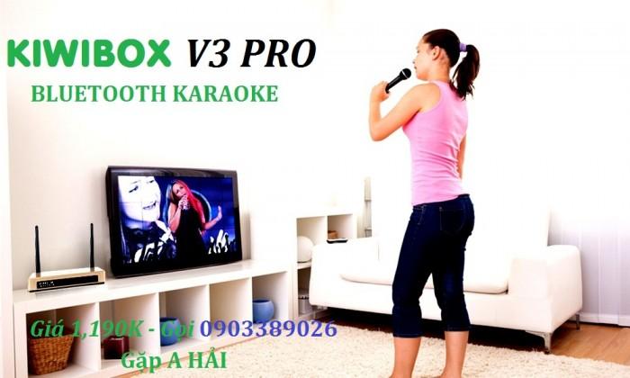 KIWIBOX V3 PRO Hát Karaoke, nghe nhạc với kho bài hát phong phú