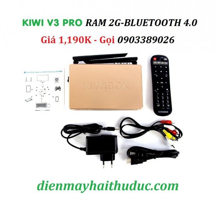 TRỌN BỘ SẢN PHẨM KIWIBOX V3 PRO KIWIBOX V3 PRO, Dây HDMI, AV, Cục nguồn, Remote, Tờ hướng dẫn sử dụng