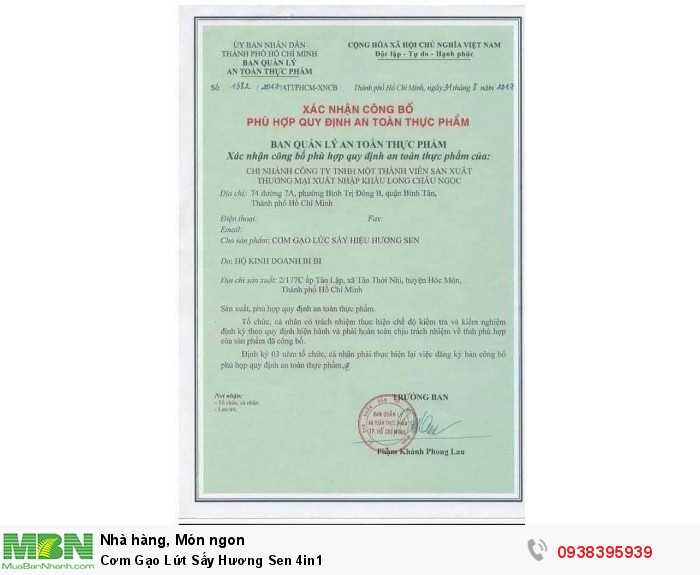 Mua Cơm Gạo Lứt Sấy Hương Sen 4in1   Sản phẩm và Thương hiệu độc quyền -Liên hệ 0938395939 - 4