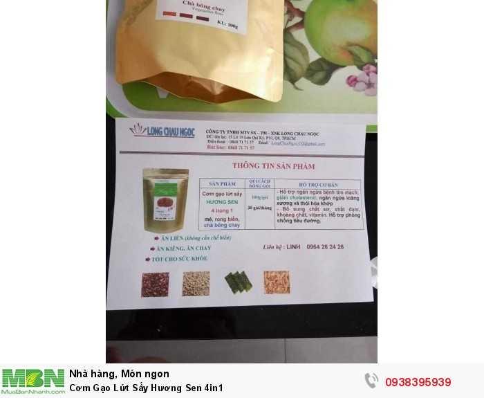 Mua Cơm Gạo Lứt Sấy Hương Sen 4in1   Sản phẩm và Thương hiệu độc quyền -Liên hệ 0938395939 - 5