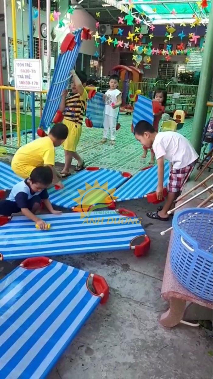 Cung cấp sỉ - lẻ giường lưới trẻ em cho trường lớp mầm non, gia đình giá TỐT12