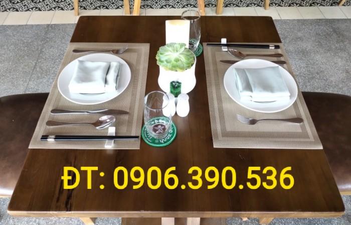 Tấm nhựa placemat hoa văn, trang trí bàn ăn đẹp, sang trọng3