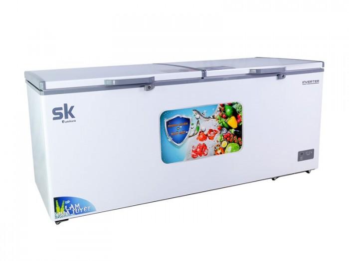 Tủ đông Inverter Sumikura 650 lít SKF-650SI đồng R600A làm bia sệt đông mềm