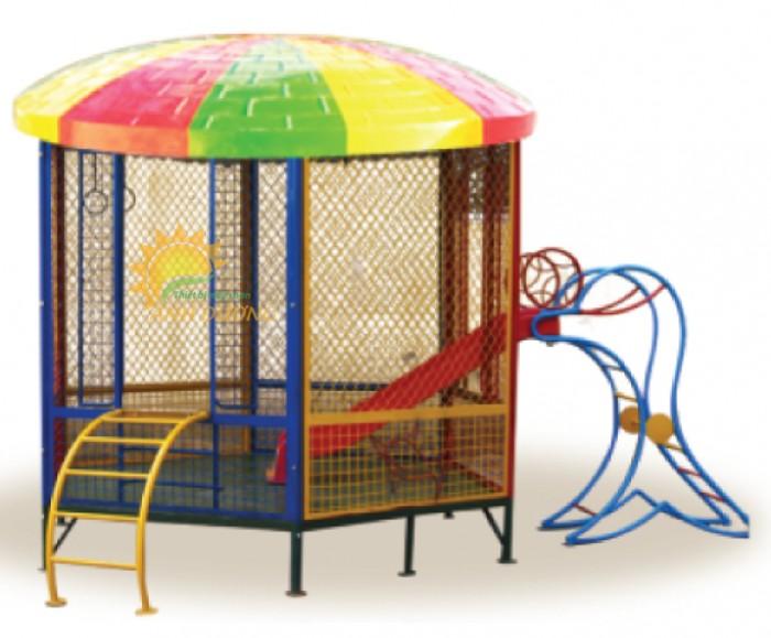 Nhận thi công nhà banh ngoài trời cho trường mầm non, công viên, sân chơi1