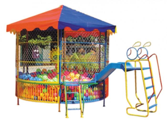Nhận thi công nhà banh ngoài trời cho trường mầm non, công viên, sân chơi5