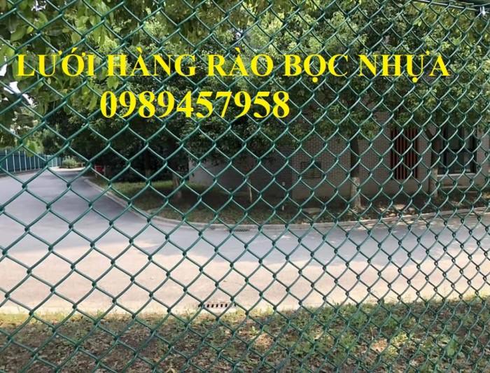 Lưới hàng rào b40 bọc nhựa, lưới thép bọc nhựa ô 10x10, 20x20, 30x30, 50x5010