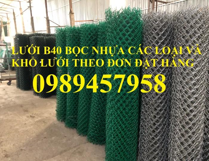 Lưới hàng rào b40 bọc nhựa, lưới thép bọc nhựa ô 10x10, 20x20, 30x30, 50x5012