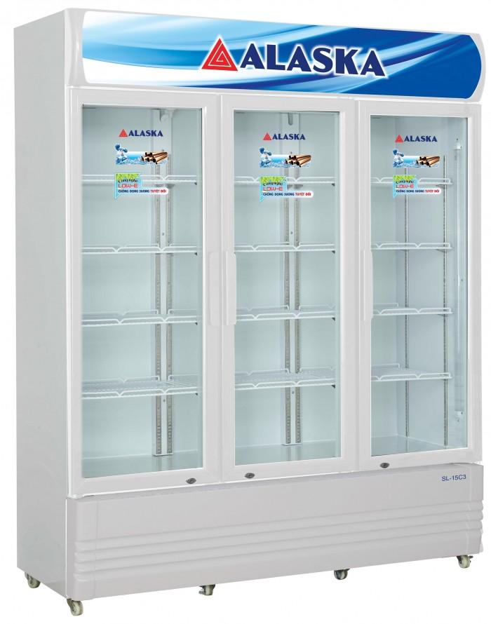 Tủ Mát Alaska Sl-15c3 1400 Lít Dàn Đồng 3 Cửa