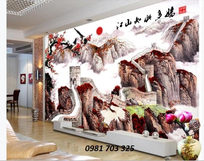 Tranh gạch 3D ốp tường trang trí phòng khách