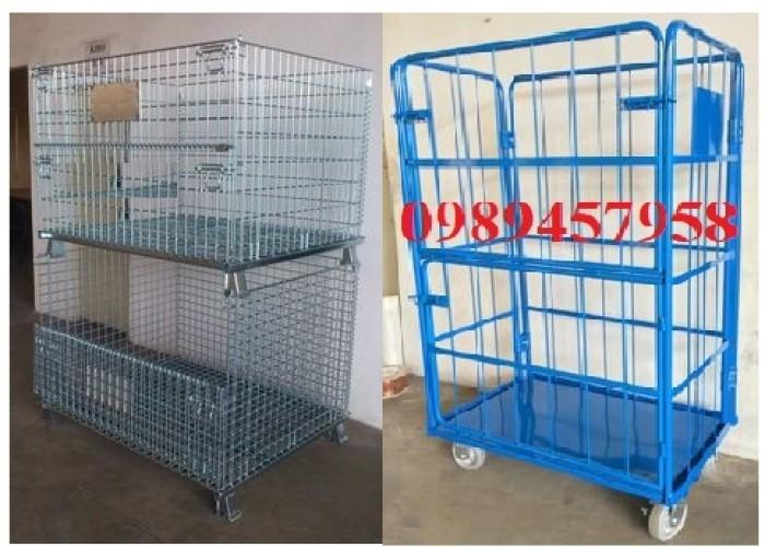 Sản xuất lồng thép để hàng, xe đẩy siêu thị, Lồng thép chứa hàng1