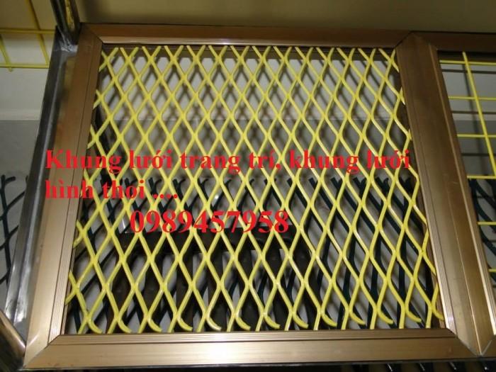 Lưới hàng rào mắt cáo, lưới hình thoi trang trí, lưới hàng rào hình thoi6